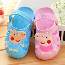 Peppa Pig Or George clogs Pink Or Blue Boy's & girl's Shoes Size 7-12, J1-J2