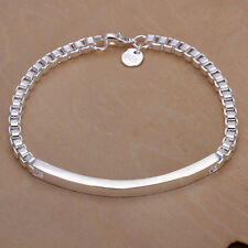 wholesale Sterling solid silver fashion jewelry charms box chain Bracelet SB079