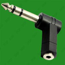 1x 3.5mm Conector Jack a 6.35mm 0.6cm Estéreo Ángulo Recto Adaptador de Enchufe