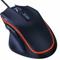 Gaming Maus 6400 DPI 9 Tasten Beleuchtet Orange mit USB Kabel