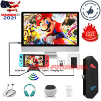 HDMI TV Charging Dock Bluetooth Audio transmitter Adapter For Nintendo Switch