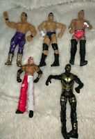 LOT OF 5 WWE WRESTLING ACTION FIGURES GREAT CONDITION