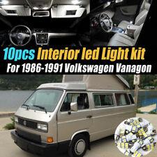 10Pc Super White Car Interior LED Light Kit for 1986-1991 Volkswagen Vanagon