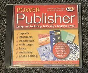 Power Publisher PC CD ROM Desktop Publishing Suite - 2002