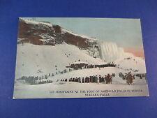 Ice Mountains American Falls Niagara Falls Vintage Colorful Postcard Unused Pc15