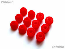 12pcs Small Red Soft Replacement Eartips for Audio-Technica In-Ear Earphones
