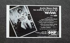 K510- Advertising Pubblicità -1982- KEVLAR , TESTIMONIAL MAURO BALDI
