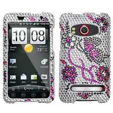 Elegant Butterfly Crystal Bling Case Cover HTC EVO 4G