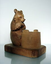 "RUSSIAN FOLK ART* BEAR with  BARREL*BOGORODSKAYA  ART FACTORY""c.1950"