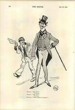 1894 Lady Art Student Cartoon Jewish Dandy Joke