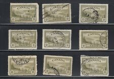 """Canada # 269 """" 10c Great Bear Lake  """" Lot of 9 Used  Lot # 269KVR7"""