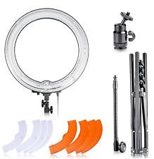 "Camera 18""Diameter 75W Dimmable Ring Fluorescen Flash Light Kit w Light Stand"