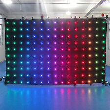 Customized Programmable LED Video Curtains Backgroud for Wedding DJ Club Screen