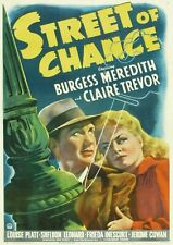 Street of Chance (Film Noir '42) Burgess Meredith, Claire Trevor, Louise Platt.