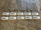 10 pcs vinyl top body nylon moulding clips w/ screws fits 67-80 Chevy GM 11/32  for sale