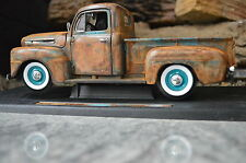 1:18 1948 Ford F-1 Barn Find Shop Truck Unrestored RAT ROD V8 HOT Patina Diecast