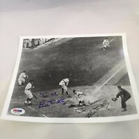 Vintage Bill Dickey Signed Autographed Yankees World Series Photo PSA DNA COA