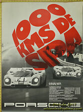 1971 1000kms De Spa  917 GULF Genuine Factory Poster Original