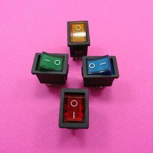 4 Pin Snap Rocker Switch 6A 10A 250V 125V Mount ON-OFF Button DPST