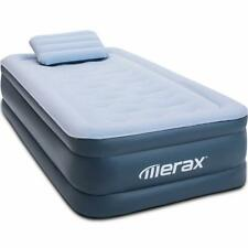 Raised Downy Inflatable Indoor Air Mattress Bed w/Built-in Electric Pump&Pillows