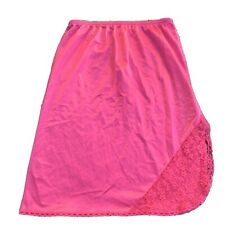 Ashley Taylor Women's Half Slip Size Small Hot Pink Fuchsia Lace