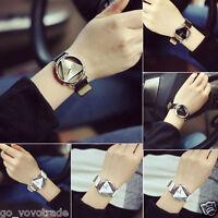 Fashion Women's Men's Leather Strap AlloyDial Quartz Analog Casual Wrist Watches
