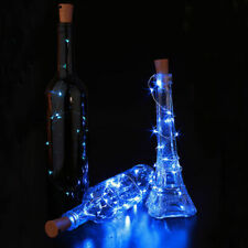 Cork Shaped Wine Bottle Copper Wire 1M 10 LED String Blue Light For  Party DIY