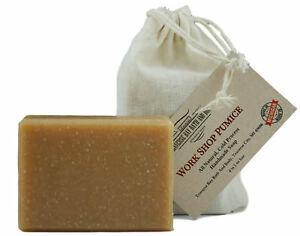Workshop Pumice with oatmeal, all natural soap, Cold process, Large 5.5-6 oz