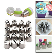 15 / 32 Pcs DIY Russian Tulip Icing Piping Nozzles Cake Flower Decor Tips Tools