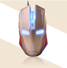UK Gaming Mouse For XP Vista 2400DPI NAFFEE Iron Man G5S 6 Buttons Wired Usb