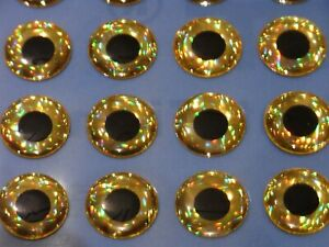 100 x 5mm 3d holographicred eyes for fly tying,flies,pike,bass,arts,crafts