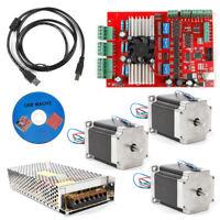 NEW MACH3 CNC 3Axis Kit Stepper Motor Controller+3pc Nema23 Stepper Motor57 TOP