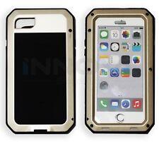 Iphone 7 Case HD Shockproof Tough Metal Anti Shock Proof Hybrid [GOLD]
