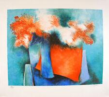 Claude GAVEAU s/n Lithograph Impressions florales 1991