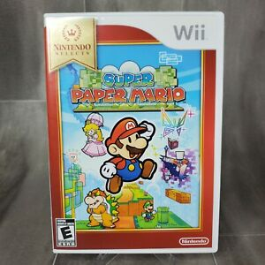 Super Paper Mario (Nintendo Wii 2007) Video Game - With Manual Very Clean Tested