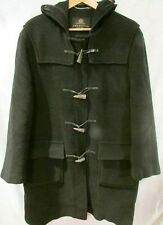 GRENFELL England Charcoal Black Wool Hooded Duffle Coat Toggle Buttons Men's 40