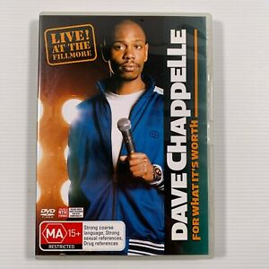 Dave Chappelle - For What It's Worth (DVD, 2006) Stand Up Region 4