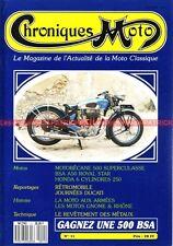 CHRONIQUES MOTO 11 HONDA 250 /6 Mike HAILWOOD BSA A50 1970 MOTOBECANE 500