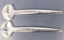 Tupperware Sheerly Elegant Serving Spoons 2pc Set Slotted & Scoop Clear NEW