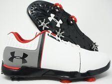 Under Armour Jordan Spieth One Jr Golf Shoes White Black Red Size 6Y / 7.5 Women