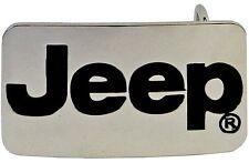 SILVER JEEP Logo Belt Buckle Chrome Steel Wrangler 4x4 Cherokee