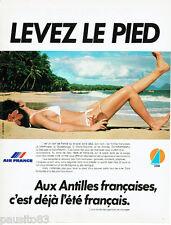 PUBLICITE ADVERTISING 115  1978  AIR FRANCE aux Antilles