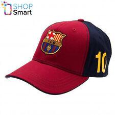 FC BARCELONA MESSI LIONEL BASEBALL CAP BURGUNDY BLACK FOOTBALL SOCCER OFFICIAL