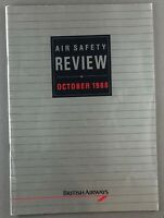 BRITISH AIRWAYS AIR SAFETY REVIEW OCTOBER 1988 BA CONCORDE TRISTAR 1-11 HS748