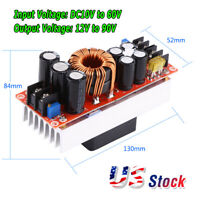 1500W 30A DC-DC Boost Converter 10-60V to 12-90V Step Up Power Supply Module New