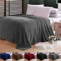 Large Faux Fur Fleece Blanket New 310 GSM Cuddly Soft Sofa Bed Throw Double King