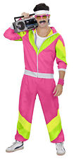 Herren 80 er Jahre Trainingsanzug - Jogginganzug - pink - Partnerkostüm
