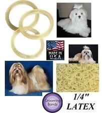 100 Dog Grooming Latex Rubber ELASTIC&Rosin HAIR BAND-Ribbon&Bow Making,Top Knot