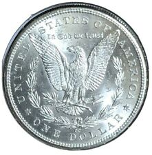 1882 CC Milk Spot Morgan Silver Dollar BU / 25C Combined Shipping
