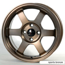SPORT BRONZE 16X7 +40 ROTA GRID 4X100 RIM FIT CIVIC INTEGRA MINI COOPER S XB XA